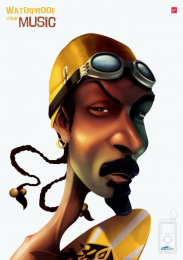 Waterproof Ipod Cases: SNOOP DOGG Print Ad by Lowe Egypt