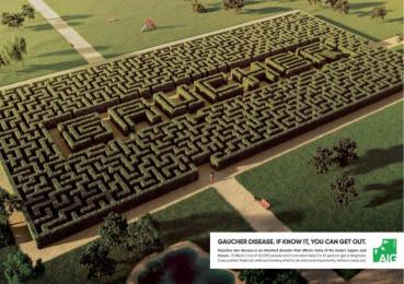 Associazione Italiana Gaucher: Labyrinth Print Ad by Boca