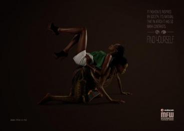Vodacom Mozambique Fashion Week: Contrasts Print Ad by DDB Maputo
