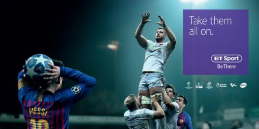 Bt Sport: Messi Lineout Print Ad by AMV BBDO London
