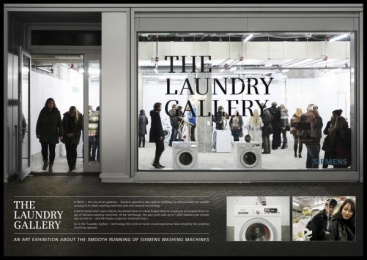 Siemens washing machines with anti-vibration Design: THE LAUNDRY GALLERY Design & Branding by Scholz & Friends Berlin