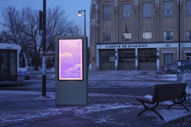 Prohibition: Fire Station Outdoor Advert by BleuBlancRouge Montreal