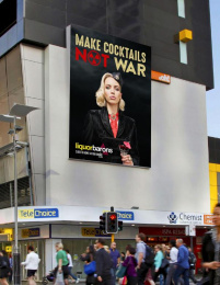 Liquor Barons: MAKE COCKTAILS NOT WAR, 2 Outdoor Advert by AT Creative
