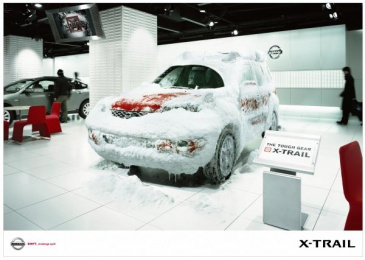 Nissan X-trail: SNOW Outdoor Advert by Hakuhodo Tokyo