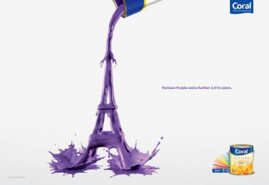 Coral Paints: Eiffel Tower Print Ad by Euro Rscg Sao Paulo