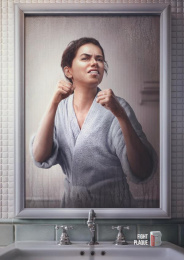 Colgate: Woman Print Ad by Cerebro Y&R Panama, Illusion, Red Fuse