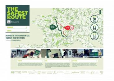 Groupama: Safest Route [image] Outdoor Advert by Kuest Prod, Marcel Paris, Prodigious, Publicis Etoile Paris