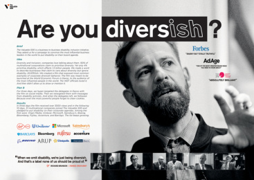 The Valuable 500: Diversish, 1 Print Ad by AMV BBDO London, Outsider