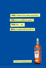 Ricard: RICARD, 1 Print Ad by BETC Euro Rscg Paris