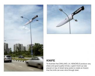 Zwilling J.a. Henckels Knife: KNIFE [alternative] Print Ad by Bates Kuala Lumpur