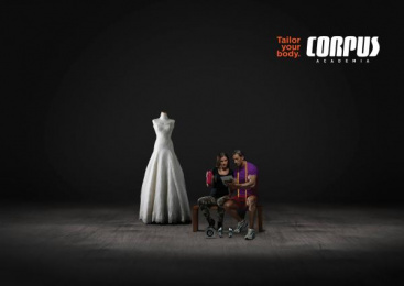 Corpus Academia: Wedding dress Print Ad by Carnaby