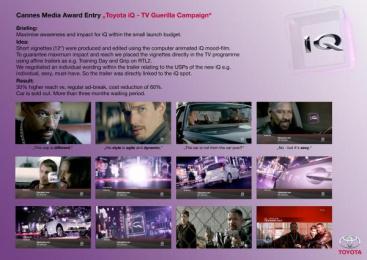 Toyota Iq: IQ Print Ad by Zenithmedia