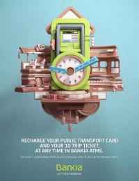 Bankia: Clock Print Ad by CLV Madrid, JVG Madrid