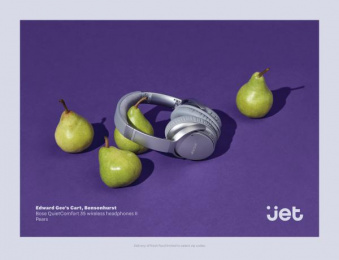 Jet.com: Bose Pears Print Ad by Pereira & O'Dell New York