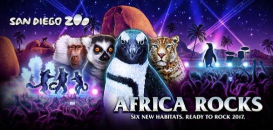 San Diego Zoo: Africa Rocks Key Art Print Ad by M&C Saatchi Los Angeles, SCROJO