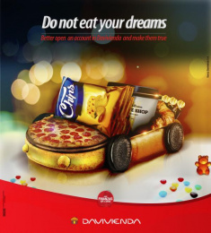 Davivienda Bank: Do Not Eat Your Dreams Print Ad by Leo Burnett Bogota