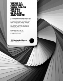 Benjamin Moore: Swatch Print Ad by The Martin Agency Richmond