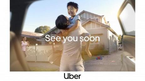 Uber: Hug Print Ad by Special Group Australia