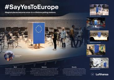 Lufthansa: #SayYesToEurope - Board Print Ad by 27 Kilometer Entertainment, Achtung! Hamburg, Kolle Rebbe Hamburg