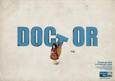 United Way: Doctor Print Ad by Rusu+bortun Brand Growers