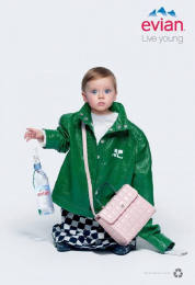 Evian: Oversize, 1 Print Ad by BETC
