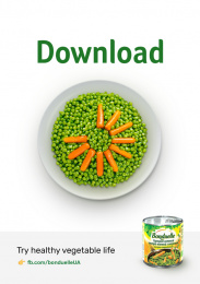 Bonduelle: Try healthy vegetable life -  Download Print Ad by NGN.agency, Kyiv, Ukraine