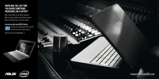 Asus: Laptop Print Ad by ZenithOptimedia London