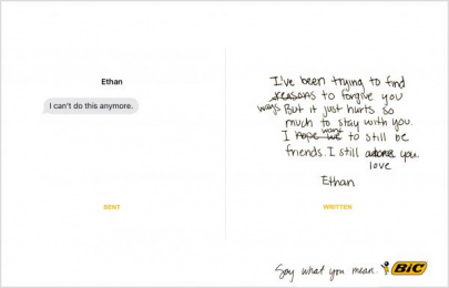 Bic: Say what you mean, 2 Print Ad by Miami Ad School