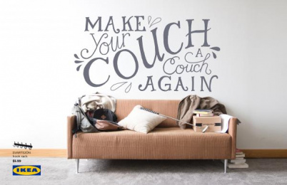 IKEA: Couch Print Ad by VCU Brandcenter