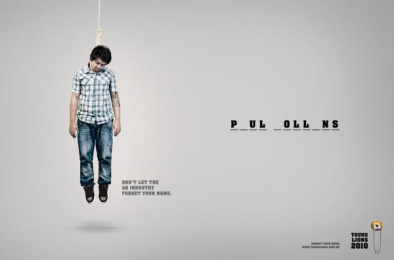 Young Lions Brazil (call For Entries): Hangman, 2 Print Ad by Artplan Sao Paulo, Mohallem Meirelles