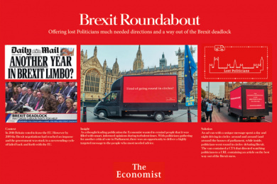 The Economist Magazine: Going round in circles Outdoor Advert by AMV BBDO London