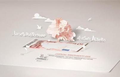 Legambiente: Paper Ambient Advert by Euro Rscg Milan