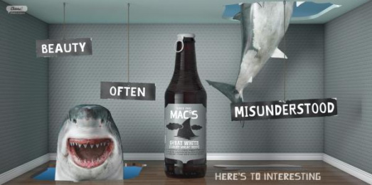 Mac's Brewery: Mac's Great White Outdoor Advert by Meares Taine Auckland, Shine Limited / Auckland
