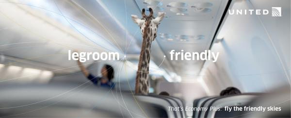 United  Airlines: Giraffe Outdoor Advert by mcgarrybowen New York
