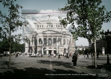 Preservation Of Historic Monuments: OLD OPERA FRANKFURT Print Ad by Ogilvy & Mather Frankfurt