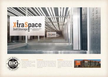 Xtra Space Self Storage: Tiny Budget. Big Ambition. One Sticker. Case study by Y&R Johannesburg