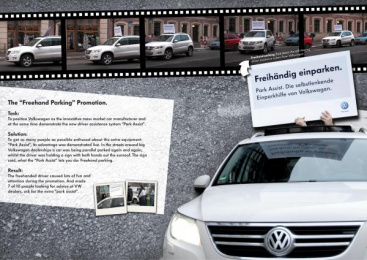 Volkswagen: FREEHAND PARKING Print Ad by DDB Berlin
