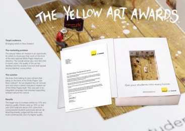 Yellow Pages/ YP: YELLOW ART AWARDS Direct marketing by Proximity Auckland
