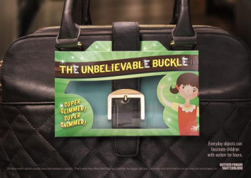Autism Forum Switzerland: The Unbelievable Buckle Print Ad by Ruf Lanz