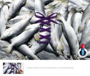 Baruel foot deodorant: Fish Print Ad by Z+ Sao Paulo
