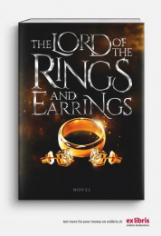 Ex Libris: The Lord Of The Rings And Earrings Print Ad by Ruf Lanz