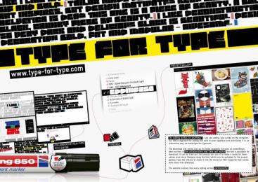 Edding: TYPE FOR TYPE Design & Branding by Kempertrautmann Hamburg, Shift
