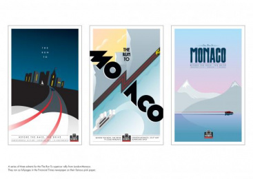 Financial Times Newspaper: THE RUN TO MONACO Design & Branding by WCRS