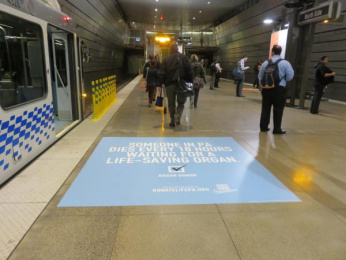 Donate Life: Transit Floor Outdoor Advert by Pavone Harrisburg, USA