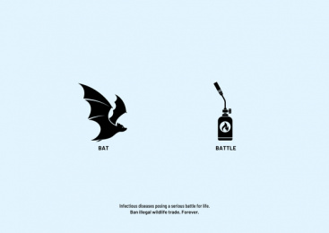 Vatitude: Ban illegal wildlife trade. Forever. - Bat Print Ad by Vatitude, Bangalore, India