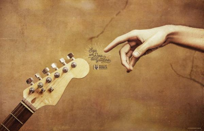 EMURP: Become a Guitar God Print Ad by Tuppi