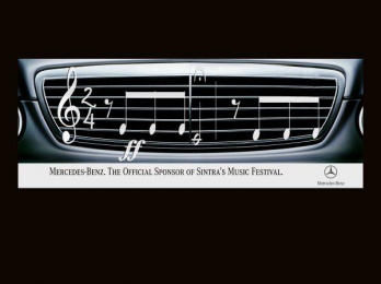 Mercedes-benz Sponsorship Of Music Festival: CAR Outdoor Advert by Z. Publicidade