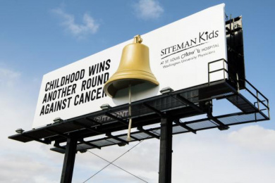 St. Louis Children's Hospital: Remission Bell [image] Outdoor Advert by J. Walter Thompson Chicago, J. Walter Thompson Toronto