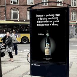 Fernet: Life is bitter, 3 Outdoor Advert by Ogilvy Copenhagen