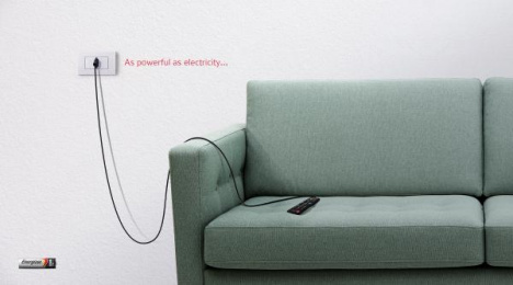 Energizer: Remote Print Ad by Team collaboration